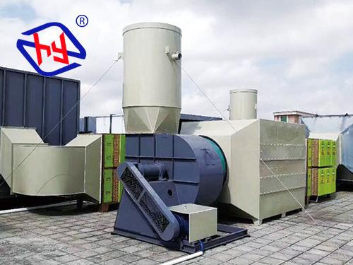 炜奇电子工业喷涂废气处理工程案例